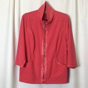 Chico's Zenergy Jacket with pockets, Size 2. NWOT